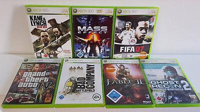 7x Xbox 360 Spiele bis USK 18 - Paket - Sammlung -