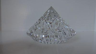 *VINTAGE* Waterford Crystal DIAMOND Paperweight 3 1/4