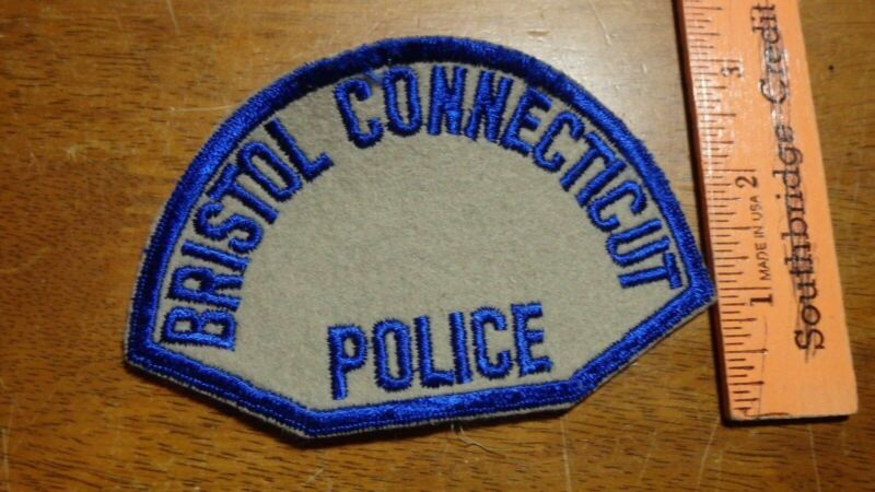 BRISTOL CONNECTICUT POLICE DEPARTMENT OLD CHEESE CLOTH BACK 1950