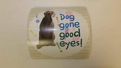 25 Pack Medical Arts Press Vision Optical Reward Stickers Dog Gone Good Eyes