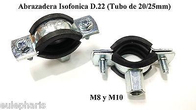 ABRAZADERA ISOFONICA D.22 M8 para Tubo FONTANERIA y AIRE ACONDICIONADO Cobre