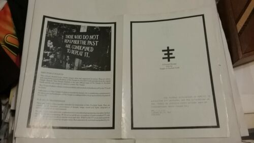 PSYCHIC TV 1984 TEMPLE PSYCHIC YOUTH PROMO PAMPHLET NMINT RARE CLEAN HTF VTG!