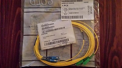 Corning SC/UPC to SC/APC Singlemode Duplex Fiber Patch Cable, 3 Meters