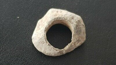 Rare tiny Viking lead Spindle whorl used as pendant A must read description L357