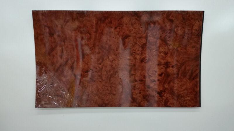 "European Burl Wood grain ABS Plastic Sheet 24"" x 36"" x 1/8"" thick Brand New"