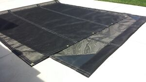 Mesh tarp for dump trucks