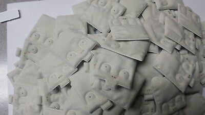 Lot 100 Pc Puff Pad Stud Earring Card Display Cream Suede 1 X 1 14