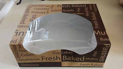 20 Bakery Boxes With Window 10 14 X 8 X 4 Printed Cupcakes Muffins Pastries