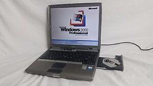 Vintage Dell Latitude D600 Laptop Windows 2000 operating system serial port USB