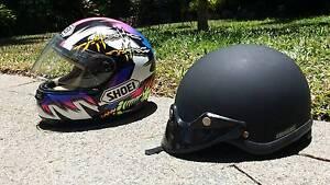 Full face Shoei Motorbike Helmet and open Motorbike Helmet Kewarra Beach Cairns City Preview