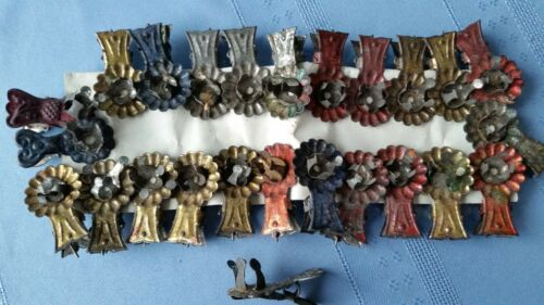 25 Antique Vintage German Christmas Tree Metal Candle Holder Clips
