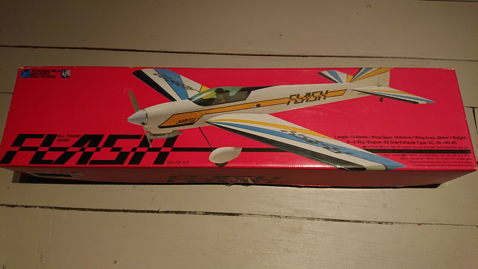 Kit YOSHIOKA avion RC Voltige F3A FLASH tout bois électrique / thermique