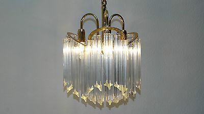 Kristall Lüster Kronleuchter Glas Stäbchen Veneziana Lampadari Italy Lampe  AA55