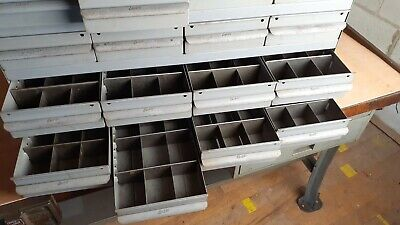 Real Equipto Usa Metal Parts Cabinet 16 Drawers 6 W Dividers 17 Deep