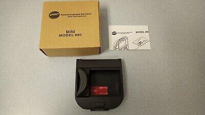 Addressograph Bartizan Mini Model 90 Credit Card Imprinter