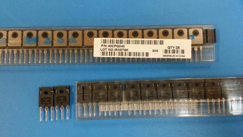 (25 PCS) 40CPQ040 IR Schottky Diodes & Rectifiers 40 Amp 40 Volt Common Cathode