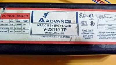 Advance Ballast V-2s110-tpmark Iii Energy Saver Rapid Start