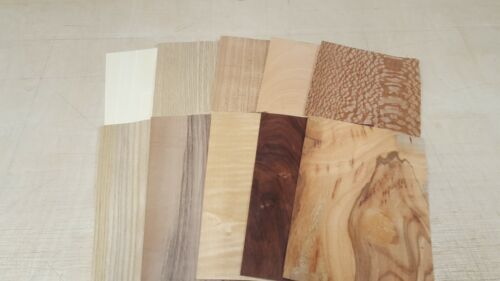Wood+Veneer+Sample+Pack+-+10+PIECES+220mm+x+150mm+for+marquetry+-+Pack+108