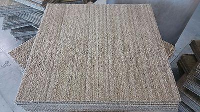 61 cm's SQUARE DARK BEIGE 'ECOWORX' CARPET TILES (100 x TILES FOR £60)