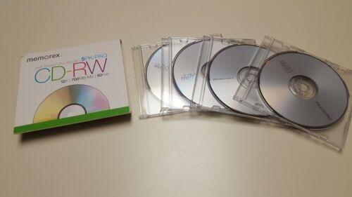 MEMOREX  4 PK/PAQ ULTA HIGH SPEED CD-RW 12X700 MB/MO 80 MIN NEW