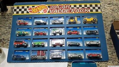 Vintage HOT WHEELS Mattel 20 Car Value Pack Ferrari 308 Gts, Thunder Roller, 80s