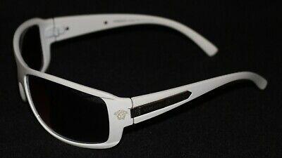 Vintage Versace Sunglasses White Frames