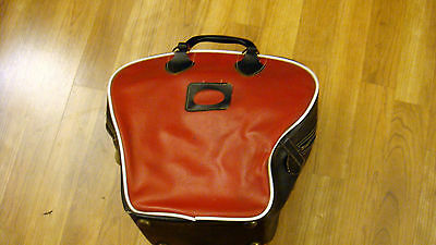 Vintage Retro Antique Red & Black Single Bowling Ball Shoe Bag