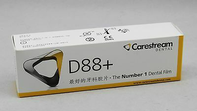 100pcs Kodak Dental X-ray Film Size 2 Intraoral Periapical Carestream D88