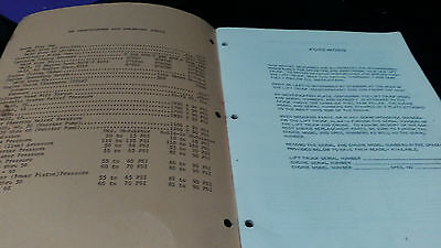 White Operators Manual Forklift Truck Am304050 And 60 Manual
