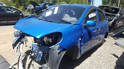 2012 NISSAN MICRA BLUE FOR WRECKING
