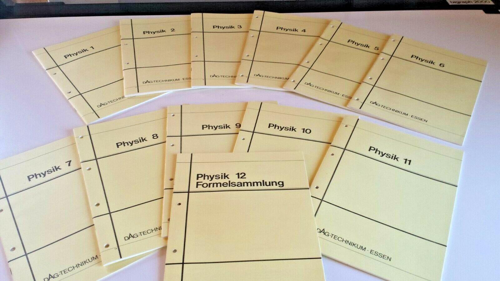 12 Physik - Lehrhefte, Grundlagen für technische Berufe, Fernunterricht