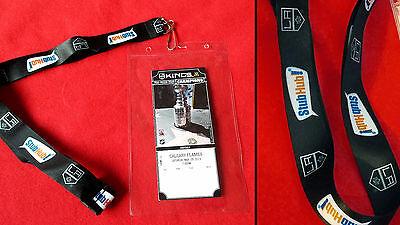 La Kings Nhl Hockey Stubhub Lanyard Clear Plastic Ticket Wallet Holder Neck Cord