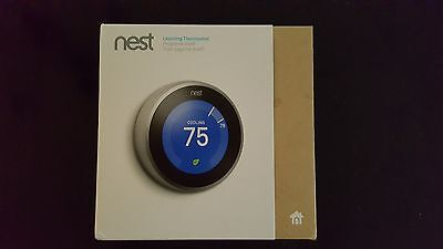 Nest Thermostat 3rd Generation T3007ES Sliver Stainless Steal Brand New Sealed