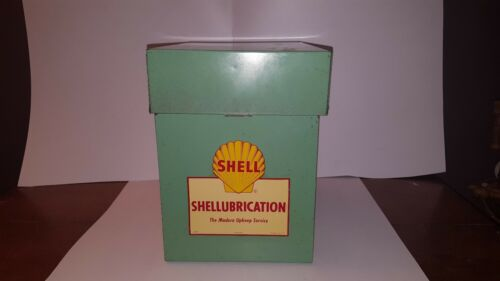 VINTAGE SHELL LUBRICATION OIL AND GAS GREASE TUBE HOLDER ADVERTISING