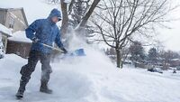 Student snow removal