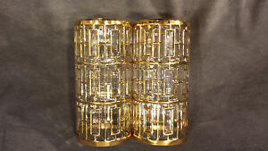 2 Shoji Tall Highball Gold Imperial Glass of Ohio 16 ozTumblers #104 Barware