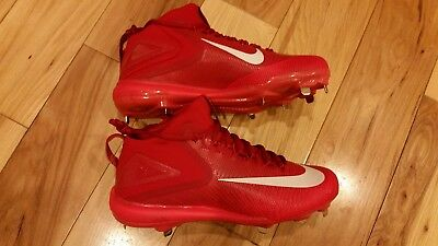 uk availability a0200 87d61 Men Nike Zoom Mike Trout 3 Metal Baseball Cleats Red White Size 12.5 856503- 667