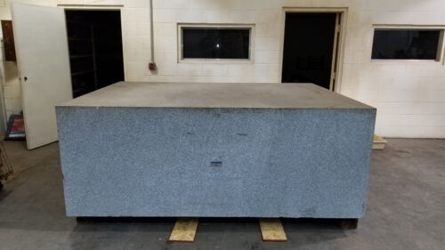 ROCK OF AGES GRANITE SURFACE PLATE 8 FT X 6 FT X 3 FT THICK. ACCURACY: .001200