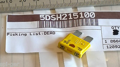 YP 125 <em>YAMAHA</em> YP 180 MAJESTY SCOOTER NEW GENUINE 20A FUSE YELLOW NO 5D