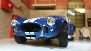 G LGB 1:24 Scale 1965 Shelby AC Cobra 427 SC V Detailed Welly Diecast Model Car