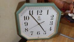 Vintage Timex Quartz Wall Clock,9,japan,works great,gd!