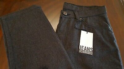 Iceberg Gilmar- New With Tags- Womens Grey Skinny Jeans - Made in Italy- Sz. 28
