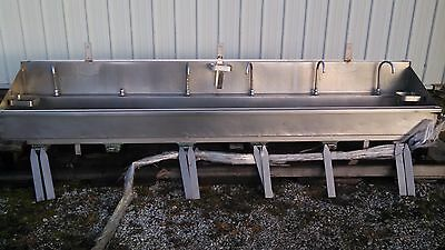 Stainless Steel Sink 6 Bay Wknee Valves
