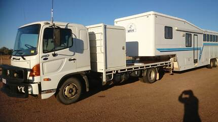 2006 FD Hino and 2006 Macro Overlander Cattleman Gooseneck Blackall Central West Area Preview