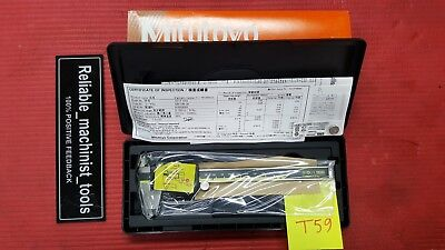 New Mitutoyo Japan Made 6 Inch Absolute Digital Calipermachinist Tool T59