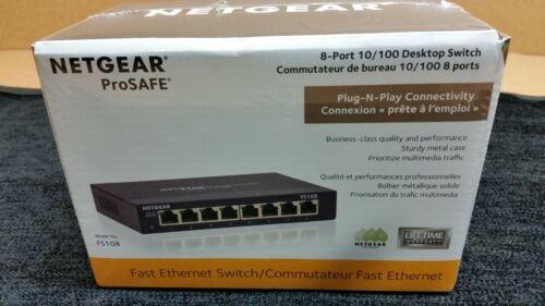 Brand New Netgear Fs108 Ethernet Switch - 8 X 10/100base-tx Lan  Ethernet Switch