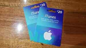2x $20 iTunes gift cards St Albans Brimbank Area Preview