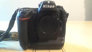 Nikon DSLR camera D2H-Nikon AF NIKKOR lens-SIGMA EF 500 Super DG