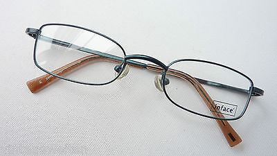 Inface Brillenfassung Metallgestell kleine Gasform Federbügel dunkelgrün size S