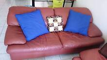 Beautiful brown 3-seater Moran leather couch \ lounge for sale Labrador Gold Coast City Preview